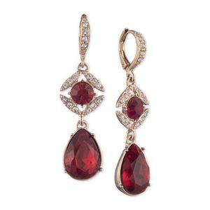 Givenchy Pavé & Stone Double Drop Earrings